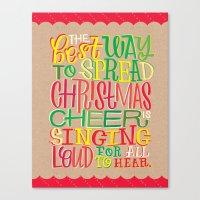 elf Canvas Prints featuring Elf by Jillian Kaye