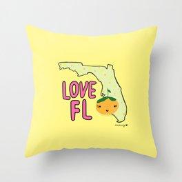 Love, Florida Throw Pillow