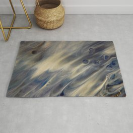 Feather Dreams - Abstract Art by Fluid Nature Rug