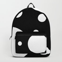 Dots black and white Backpack