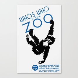 Who's Who In The Zoo -- Vintage WPA Canvas Print