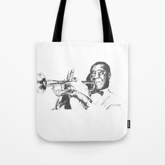 Louis Armstrong, Satchmo or Pops Tote Bag