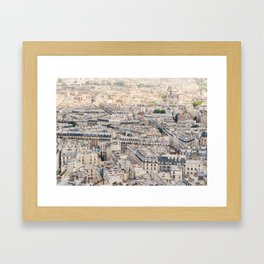 Paris, France Aerial City View from Sacre Coeur Framed Art Print