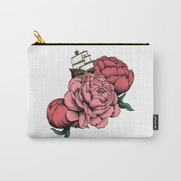 Sailing a Sea of Peonies - Pink Carry-All Pouch