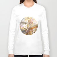 brooklyn bridge Long Sleeve T-shirts featuring Brooklyn Bridge by LebensART