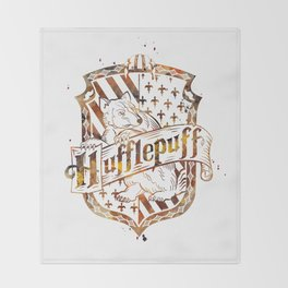 Hufflepuff Crest Throw Blanket