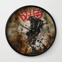 Cyber Geisha Wall Clock