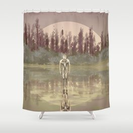 Tree spirit from the woods lake Shower Curtain
