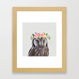 WOO's a pretty owl? Framed Art Print