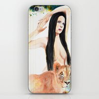 girl power iPhone & iPod Skins featuring Girl Power by Beth Michele