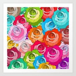 Roses Parade Art Print