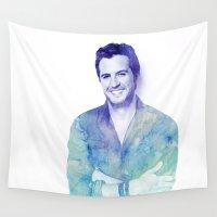 luke hemmings Wall Tapestries featuring Luke by Sharna Myers