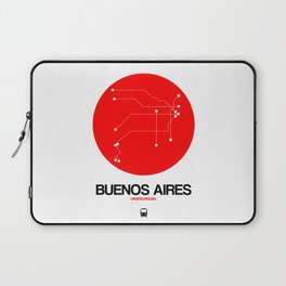 Buenos Aires Red Subway Map Laptop Sleeve