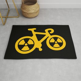 Radioactive Bicycle Rug