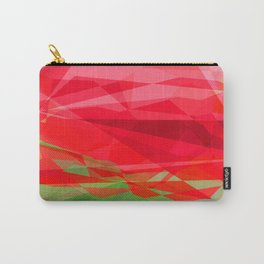 Red Rose Edges Abstract Polygons 3 Carry-All Pouch