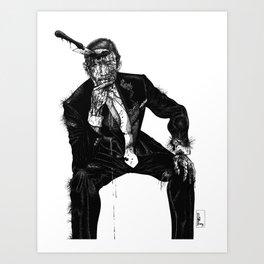 Zombie Bespoke (Without Copy) Art Print