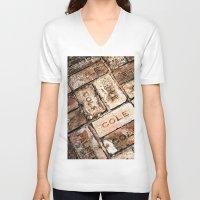 palestine V-neck T-shirts featuring Stepping on History by J.LaShaye
