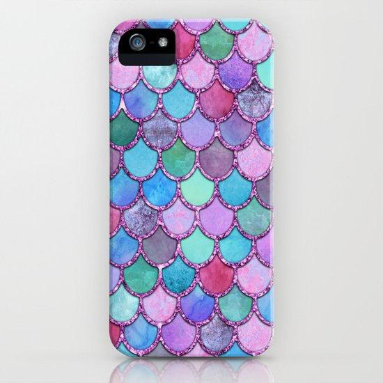 Colorful Pink Glitter Mermaid Scales by nomadartstudio