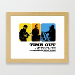 TIME OUT, HOLE IN THE WALL - AUSTIN, TX Framed Art Print