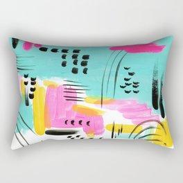 Vibrant Sun and Sea Rectangular Pillow
