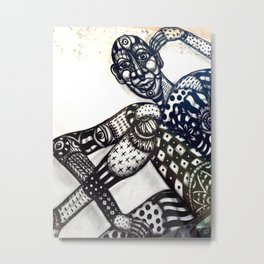 Tel Aviv Street Art and Graffiti Metal Print