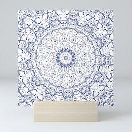 Blue Kaleidoscopic Mini Art Print