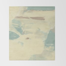 Blue & Cream Monoprint Throw Blanket