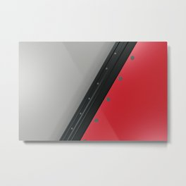 Colored plate with rivets Metal Print