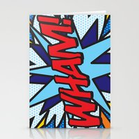 comic book Stationery Cards featuring Comic Book WHAM! by The Image Zone
