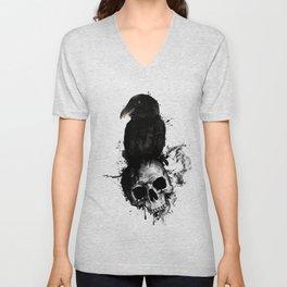 Raven and Skull Unisex V-Neck