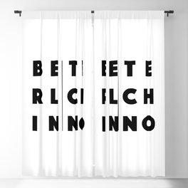 Berlin Techno Blackout Curtain