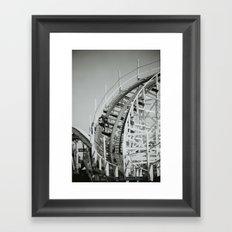 Rollercoaster Maintenance Framed Art Print