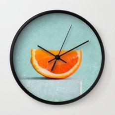 summer in orange II Wall Clock