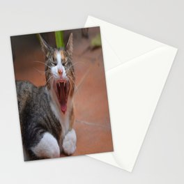 Liza the cat with a big smile Stationery Cards