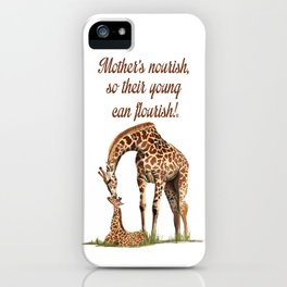 Mothers Giraffe and Calf iPhone Case