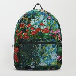 Flower Garden Riot of Colors by Gustav Klimt Backpack