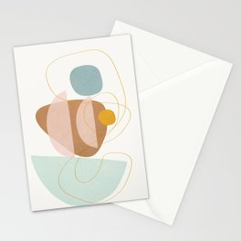 Soft Abstract Shapes 13 Stationery Cards