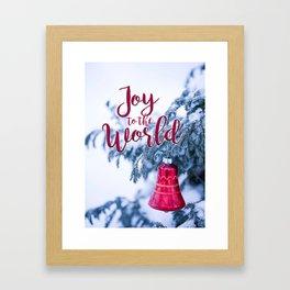 Joy To The World Bell Framed Art Print