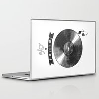 onesie Laptop & iPad Skins featuring music is ...life  (vintage version) by mauro mondin