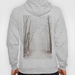 Winter path #photography #society6 Hoody