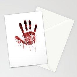 Zombie Handprint Stationery Cards