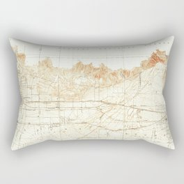 Azusa, CA from 1928 Vintage Map - High Quality Rectangular Pillow