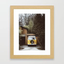 Yellow Van Ready For Road Framed Art Print