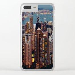 Rainbow Skyline Clear iPhone Case