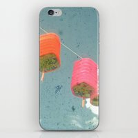 lanterns iPhone & iPod Skins featuring Lanterns by Cassia Beck