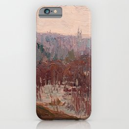 Tom Thomson - Cat-Tails, Canoe Lake - Canada, Canadian Oil Painting - Group of Seven iPhone Case