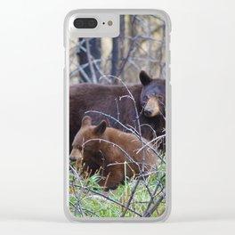 Sow & cub in Jasper National Park | Canada Clear iPhone Case