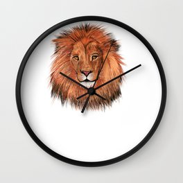 Lion, fierce, courage Wall Clock