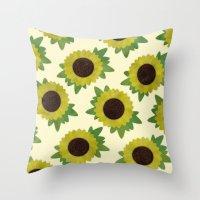 lindsay lohan Throw Pillows featuring Lindsay by Karla McNally