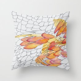 Protea Petals Throw Pillow